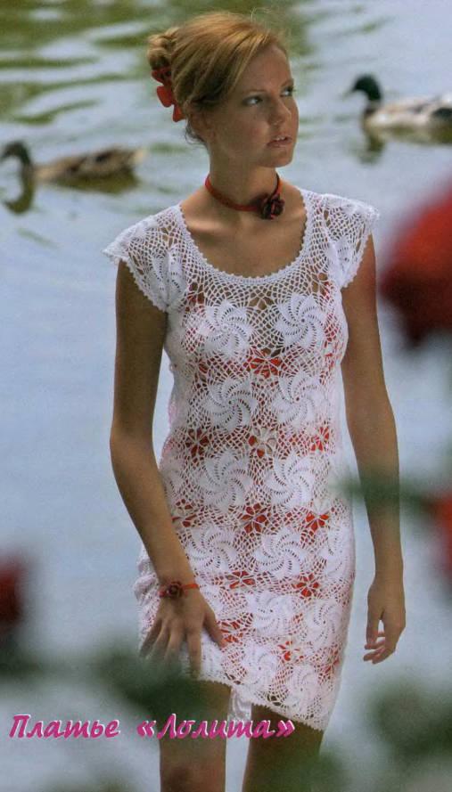 летние платья вязанные крючком