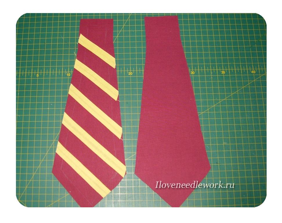 как сшить галстук +на резинке