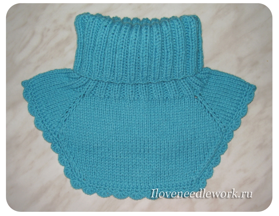 Вязание на спицах для детей манишки.